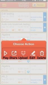 main action menu
