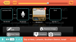 Edit screen